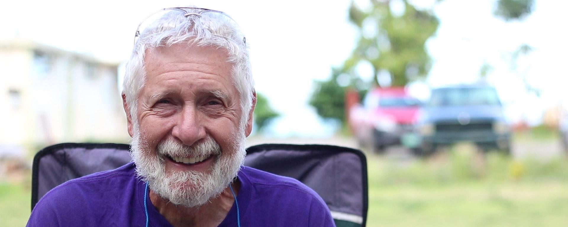 Volunteer Roger Smiling
