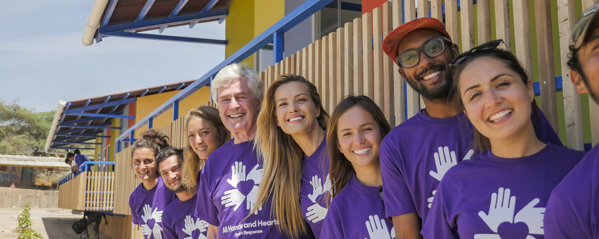 Co-Founders David Campbell and Petra Nemcova n Peru with volunteers