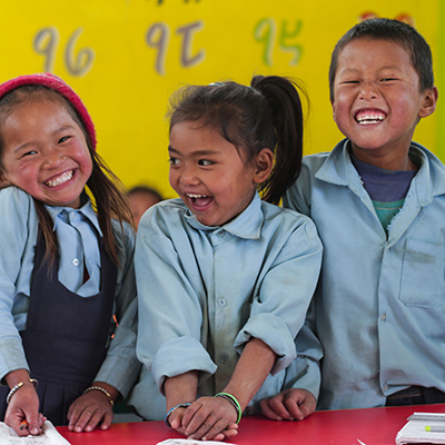 All Hands and Hearts Disaster Relief Nepal Earthquake Recovery Smiling Students