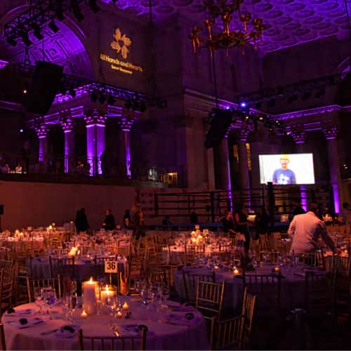 Decorated Fight For Education Cipriani Ballroom, with lights and decor